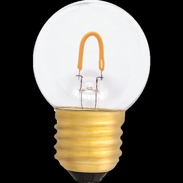 Żarówka LED filament 0,6 W = 50 lm plastikowa bańka; ciepła barwa 2400K