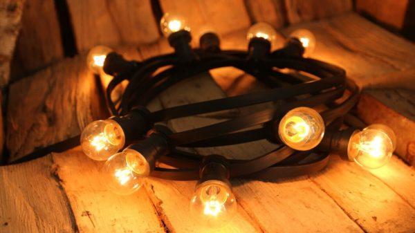 girlanda świetlna czarna żarówki tradycyjne 2