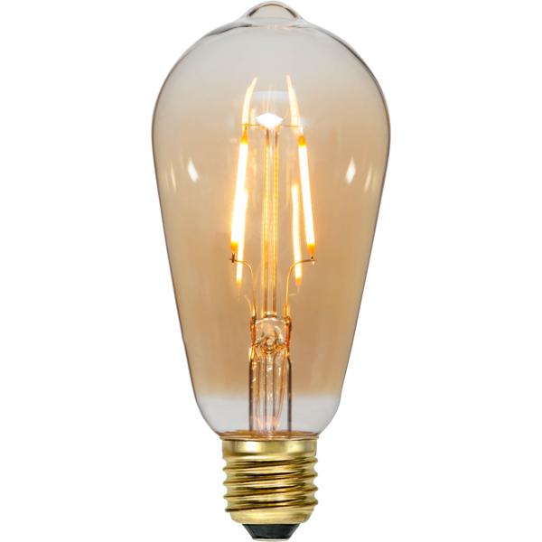 na zdjeciu Żarówka do girland LED filament Edison ST54 0,75W szklana ciepła barwa 2000K 80 lm