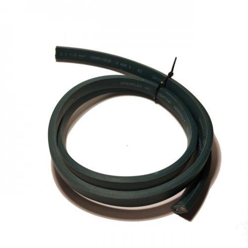 zdjęcie przedstawia przewód płaski ciemnozielony do budowy girland świetlnych